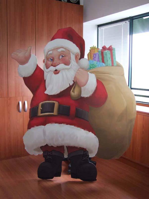 Cartello Babbo Natale